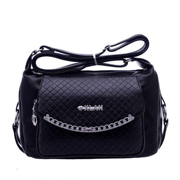 Women Multi-pocket PU Leather Elegant Shoulder Bags Crossbody Bags