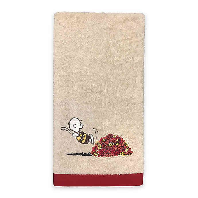 Peanuts Harvest Hand Towel Bed Bath Beyond Hand Towels