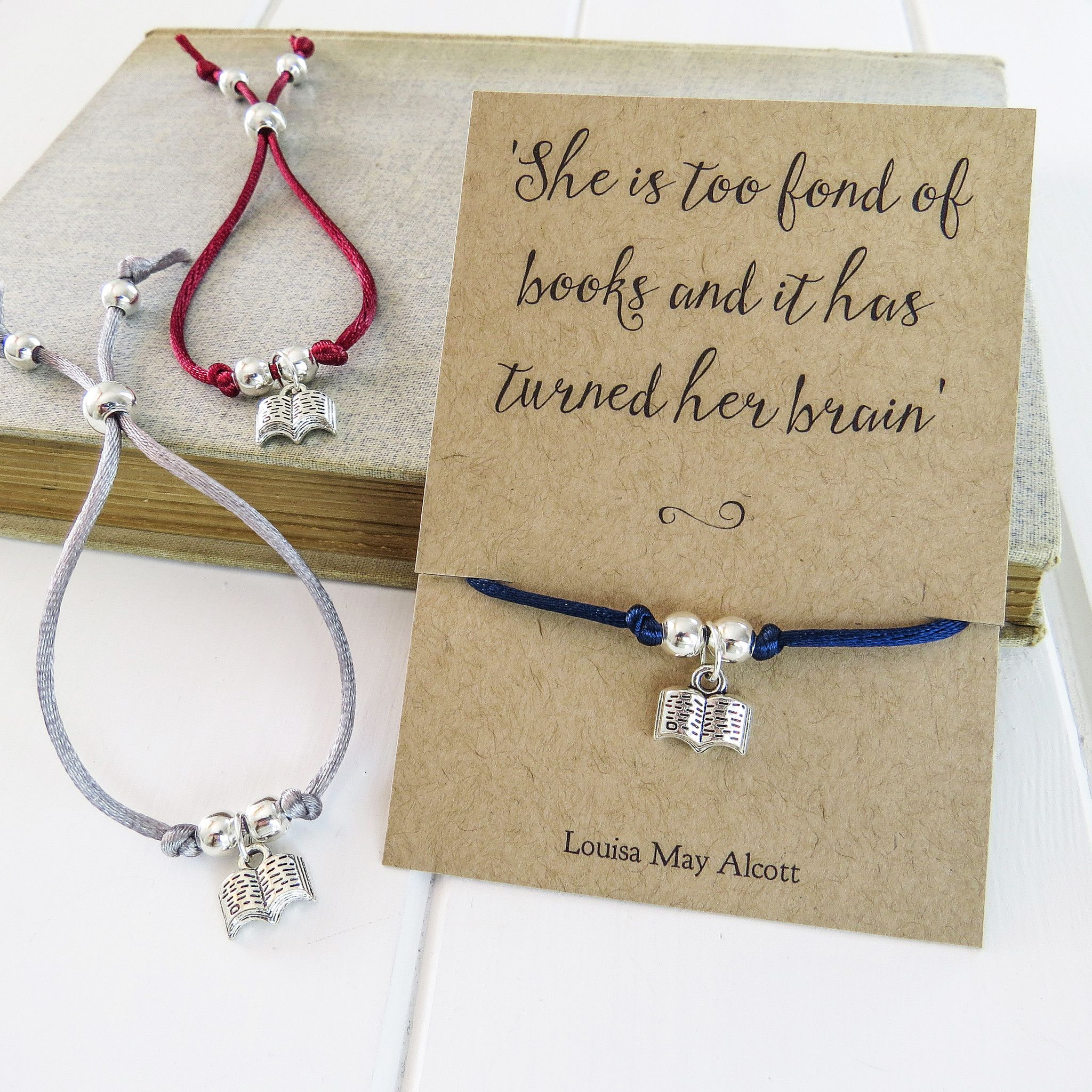 Literary Quotes About Friendship Book Lover Friendship Bracelet  Literary Emporium  Literary