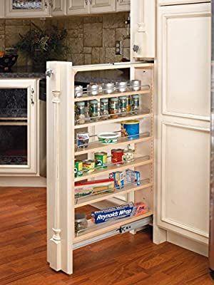 Rev-A-Shelf 6 in Tall Filler Organizer Pullout, Natural #cabinetorganizers