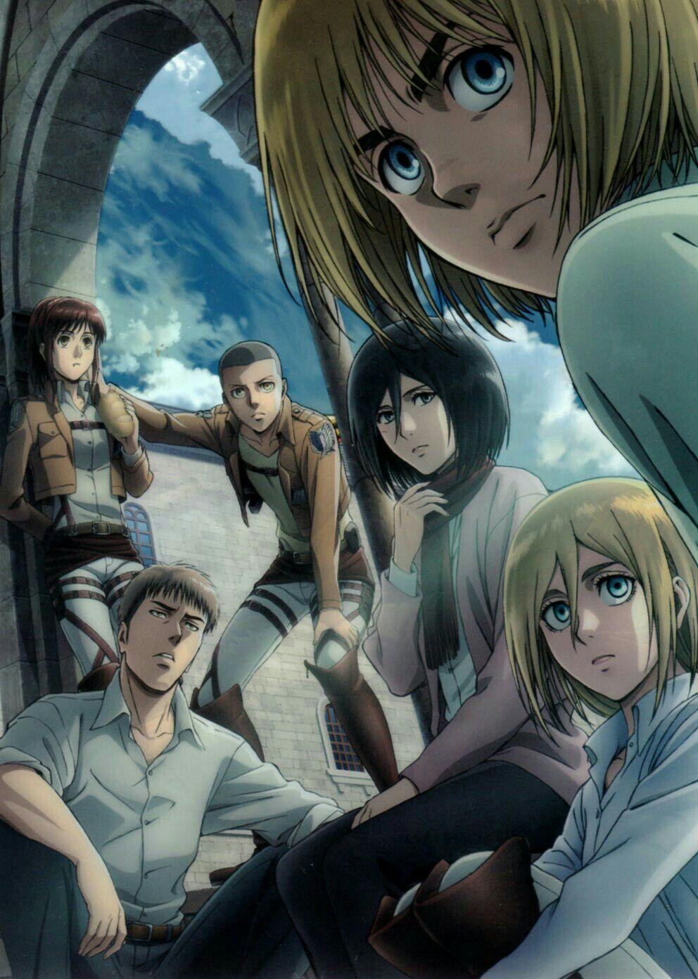 Armin Mikasa Jean Historia Sasha Connie Attack In Titan 2 Dvd Image 1 Gambar Anime Cara Menggambar Animasi