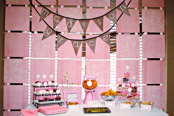Nice How Cute Is This For A Baby Shower? Love The Paper Backdrop Idea. :
