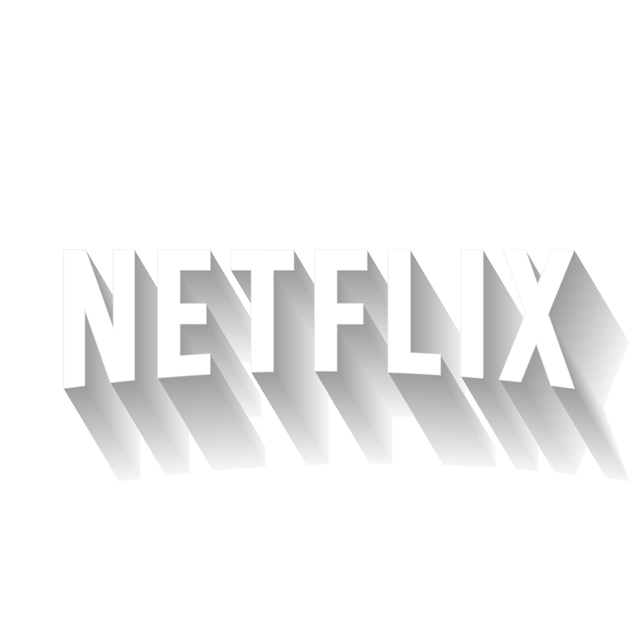 Logo Netflix 3D HD⎪Vector illustrator (ai.)