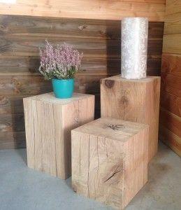 Special Deco Cubes En Chene Massif A Partir De 30 Bout De Canape Bois Canape En Bois Table Basse Bois