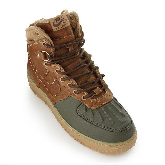 b00216381d4b Nike - Air Force 1 Duckboot in Beech Army Tan