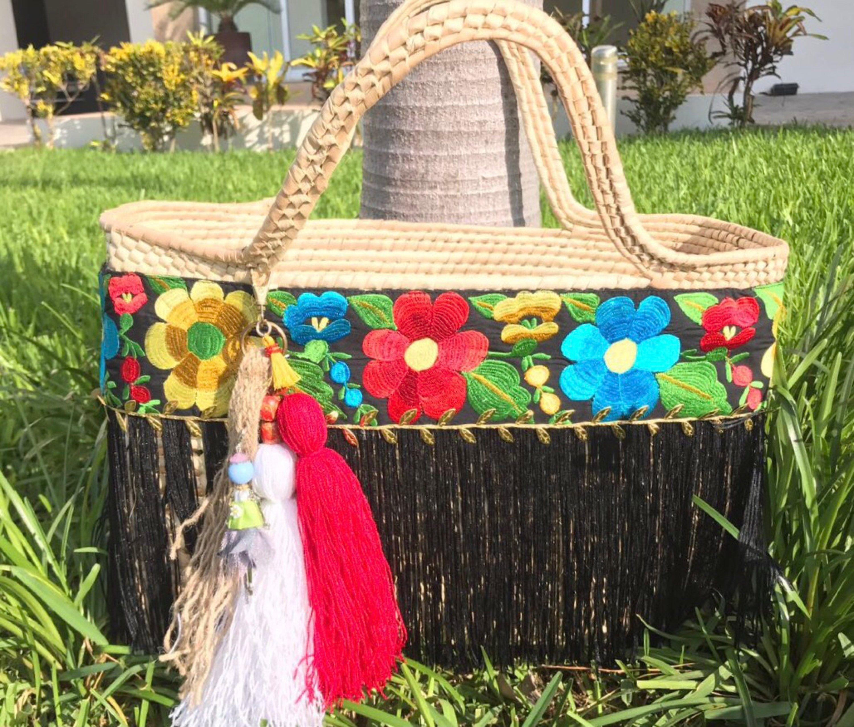 57fe17cdd Bolsa artesanal de palma tejidos a mano de SirenasCreaciones en Etsy ...