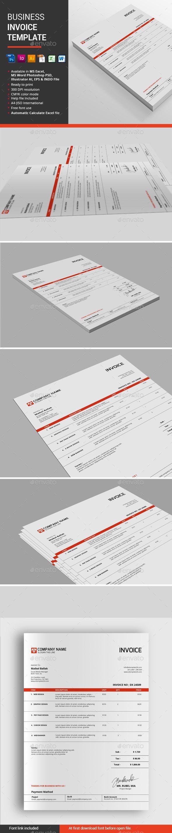 Business Invoice Template | Empresas