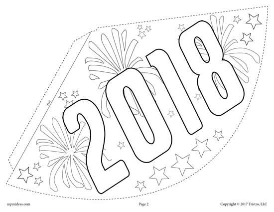 blank party hat printable new years christmas template u2013