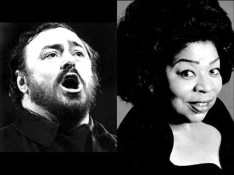 """▶ Luciano Pavarotti & Martina Arroyo """"Teco io sto"""" Un Ballo in Maschera - YouTube"""