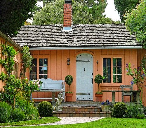 charming little peach cottage with dutch doors no less - Cottages For Less