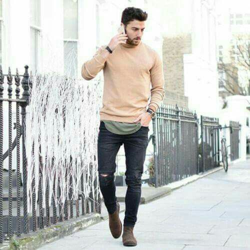 Fashiontrends4everybody MEN SUMMER WEAR IDEAS Brown Suede Chelsea Boots,  Brown Chelsea Boots Outfit,