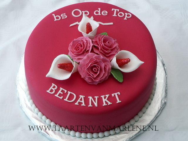 bedankt taart Bedankt taart   Cake   Pinterest   Birthday cakes and Cake bedankt taart