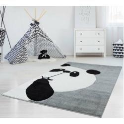 Kinderteppich Panda Bär in Grau/Weiß Carpet CityCarpet City #Kinderteppiche