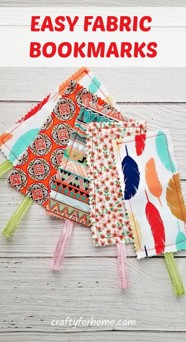 Sew Easy Fabric Bookmarks -   19 fabric crafts for kids easy ideas