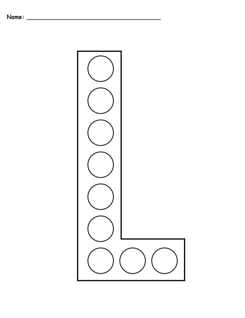 Letter L Do A Dot Printables Uppercase Lowercase Do A Dot Letter L Letter A Crafts
