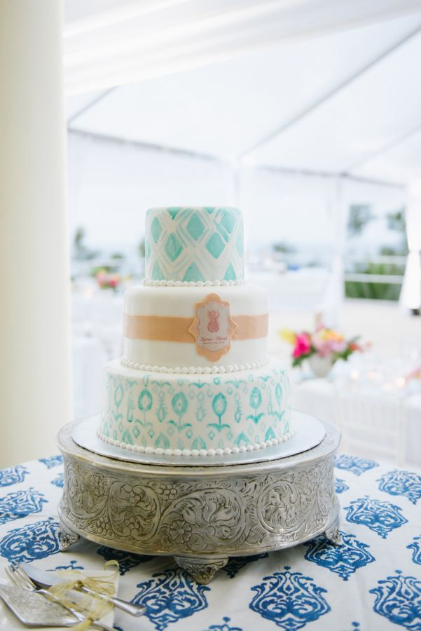 The Floral Filled Beach Wedding Of Our Dreams With Images Colorful Wedding Cakes Jamaica Wedding Wedding Cakes