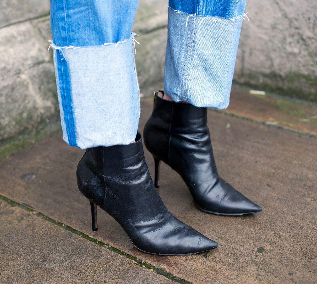Straight leg jeans deserve an oversize cuff.