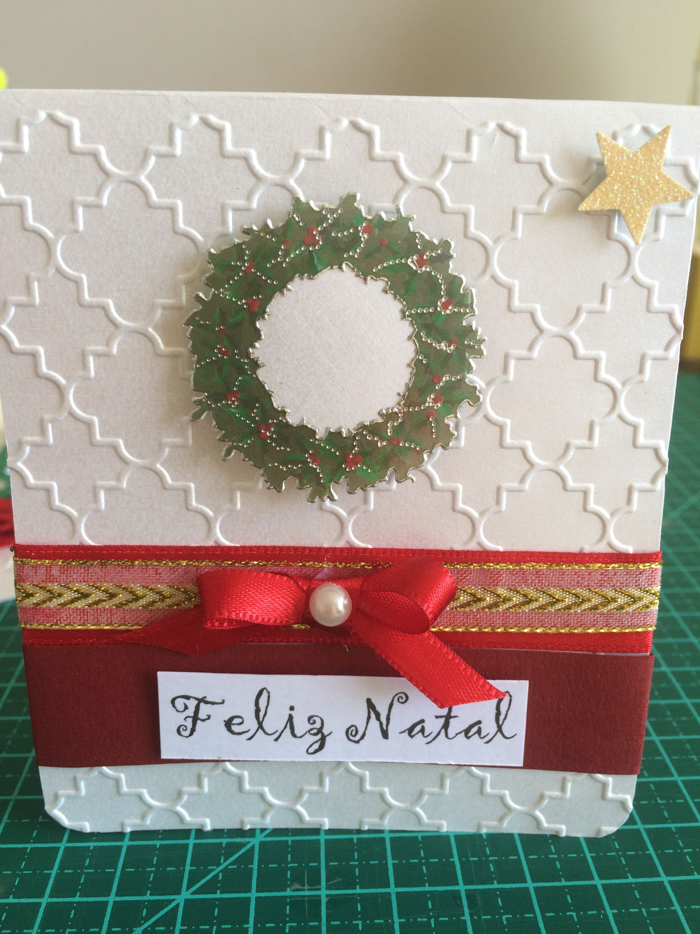 Cartão de Natal scrap