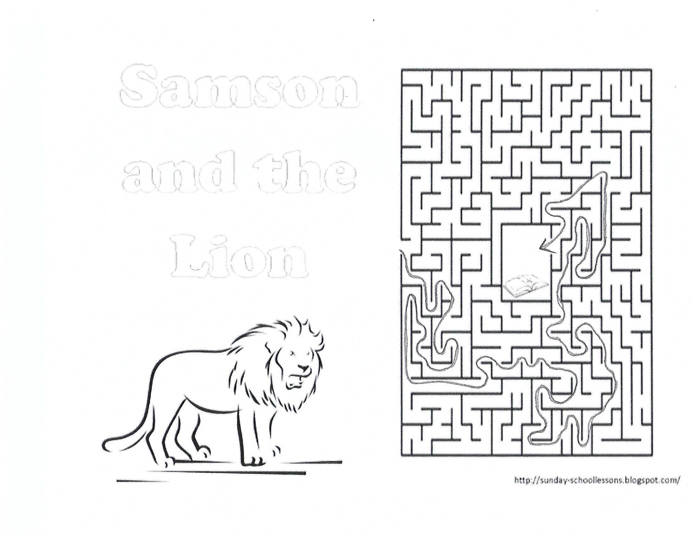 Samson And The Lion Maze Key