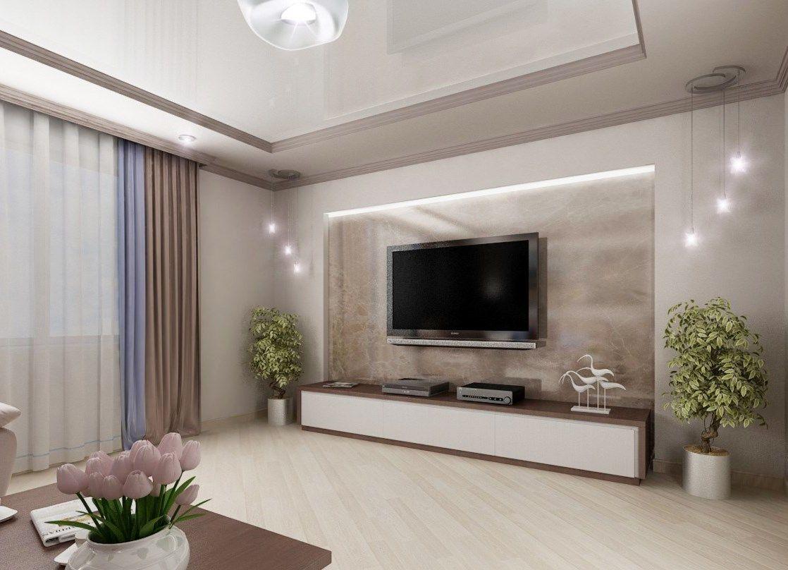 декор зала в доме фото