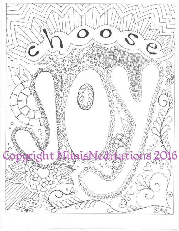 Coloring Page Choose Joy Choose Joy Coloring Pages Christian