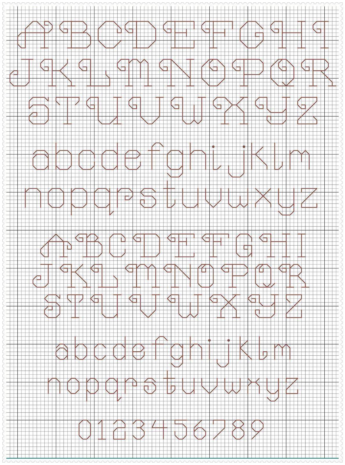 Pin von Juliana Rincon auf Needle and thread | Pinterest | Alphabet ...