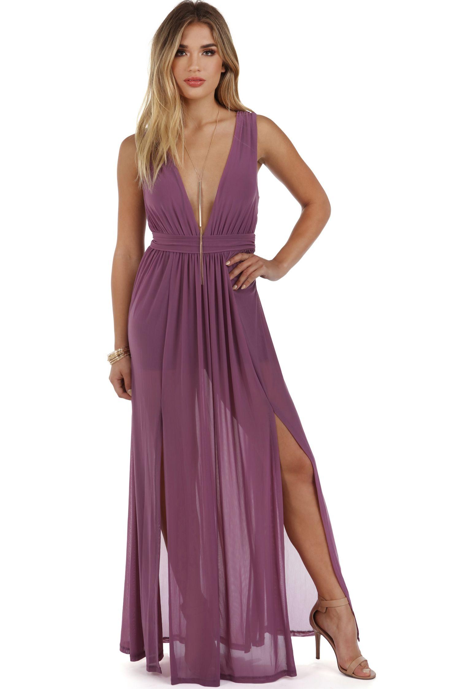 Arielle Purple Mesh Dress   Boda