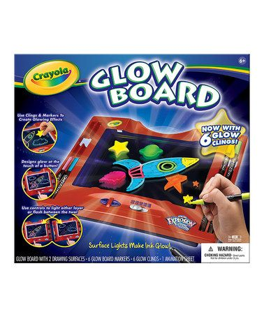 Color Explosion Glow Drawing Board #zulily #zulilyfinds