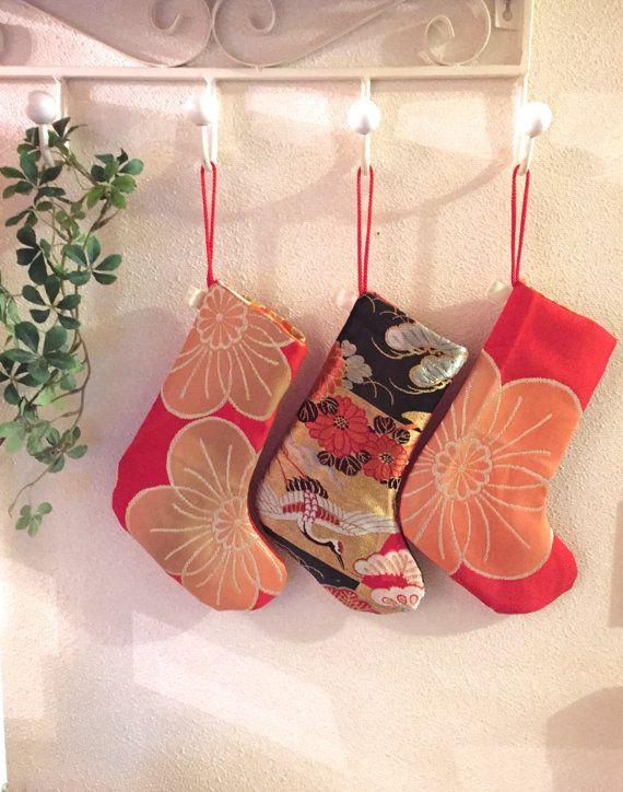 Kimono / Obi / Christmas / RD797 Beautiful Red by RummyHandmade My