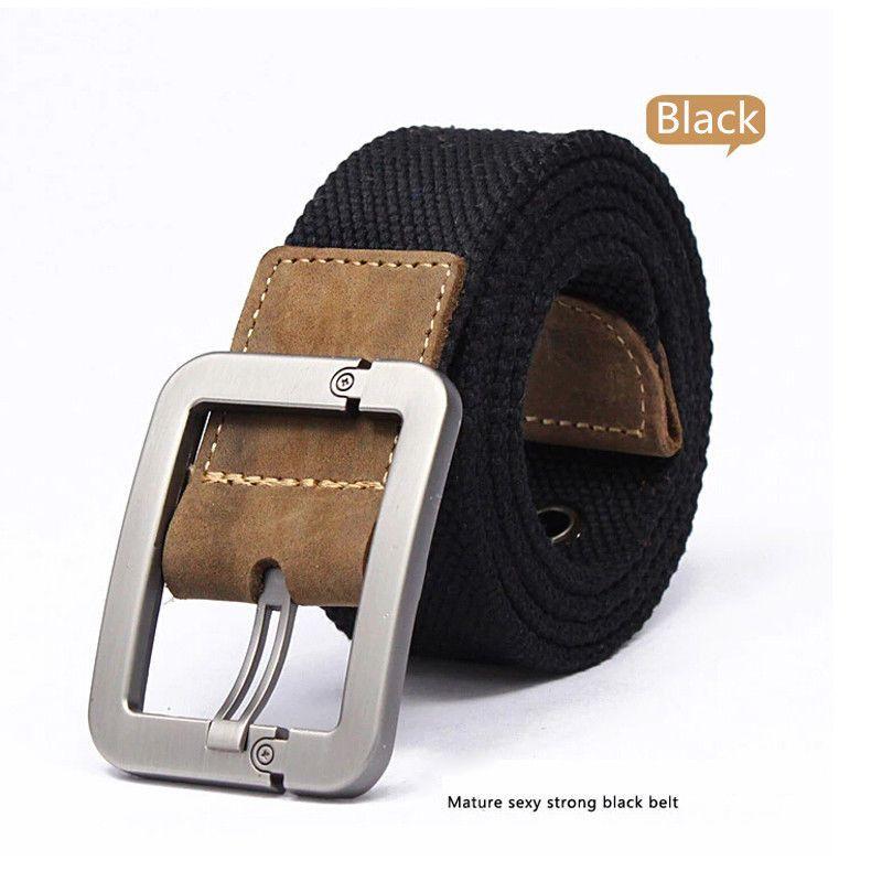 bd726965bc35 Produits Pour Hommes · Ceinture Tactique · Toiles · Comfy Cool Men s Boy  Fashion Durable Casual Canvas Band Leather Pin Buckle Belts   eBay