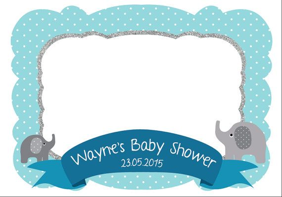 Elephant Photo Frame - Customize photo booth props - Baby shower ...