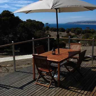 One day, in the not-so-distant future, Chris and I will be sitting on this deck, drinking wine, overlooking Emu Bay, Kangaroo Island.
