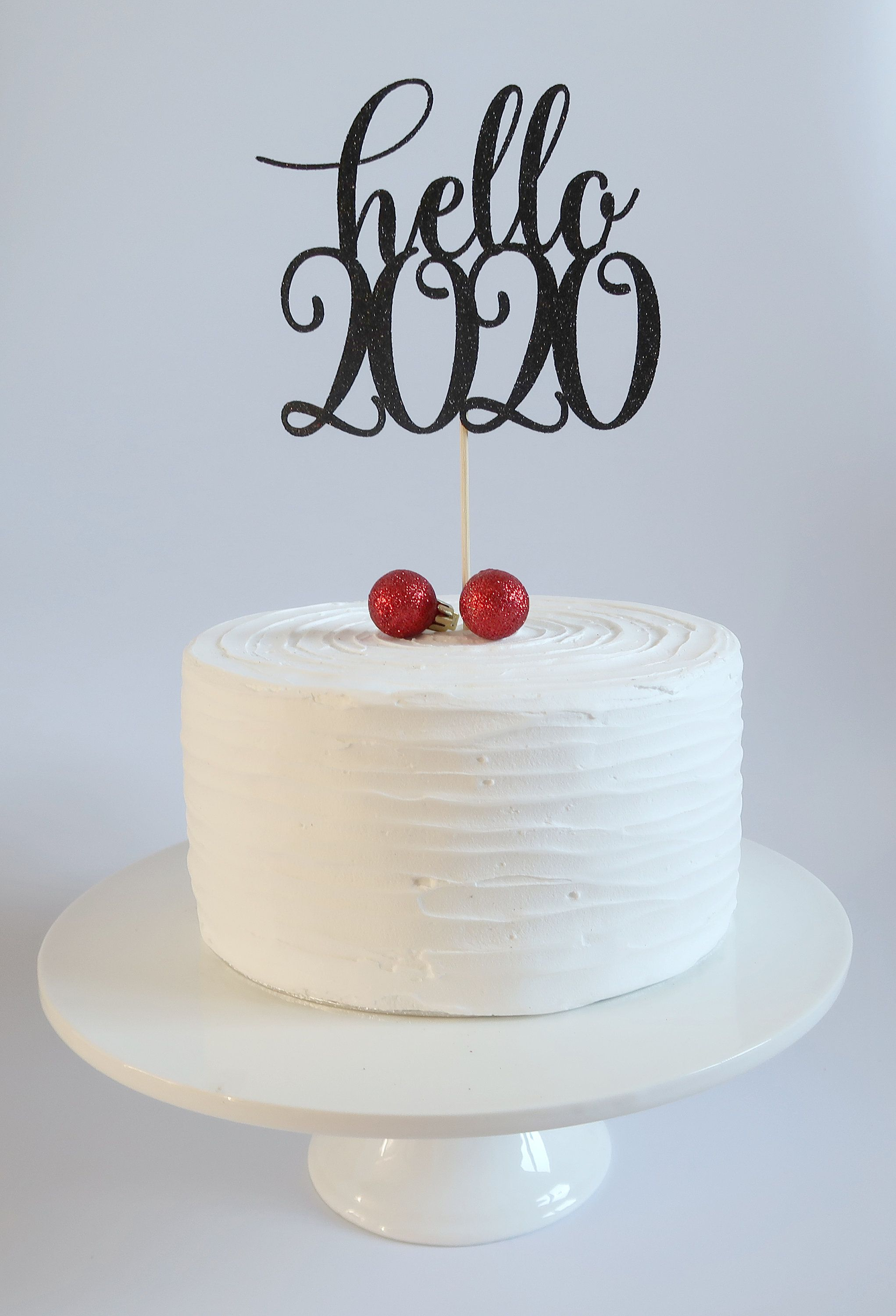 Hello 2020, Cake Topper, New Years Eve Decor. Happy New