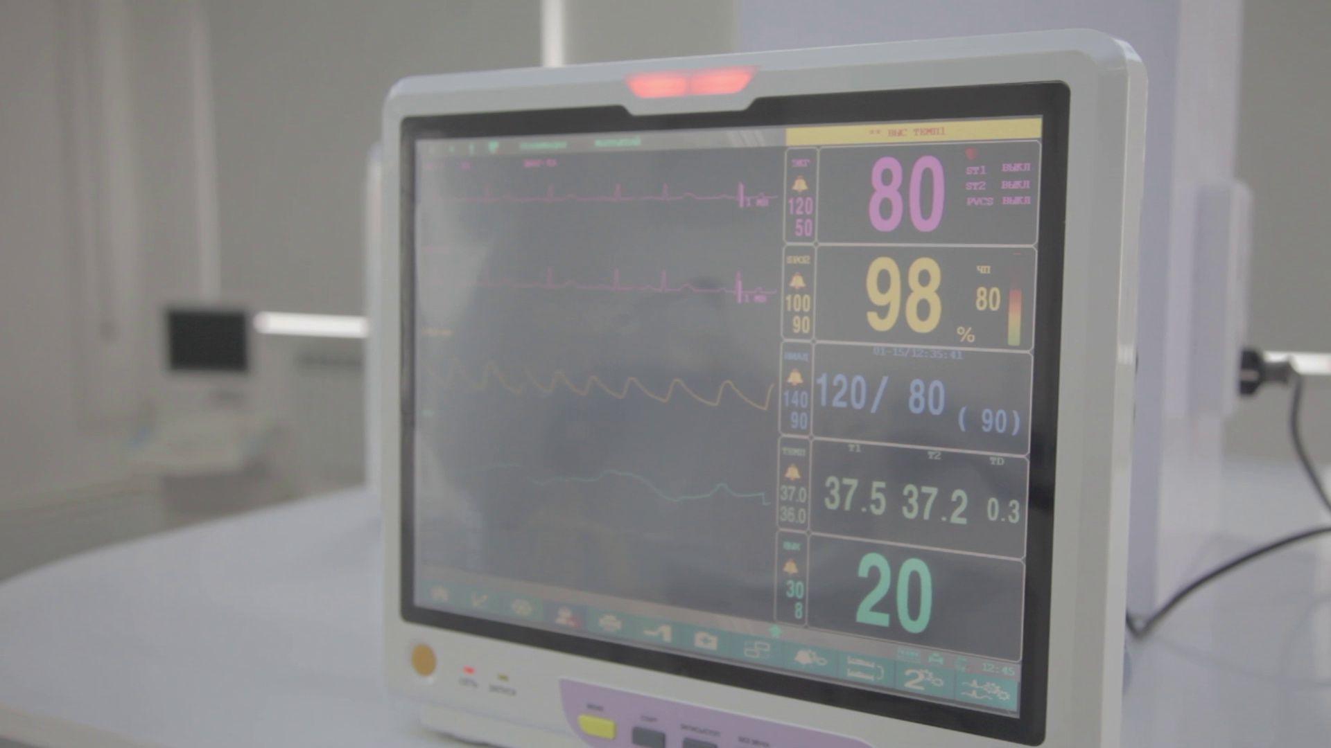 Medical equipment. Ultrasound machine in a modern