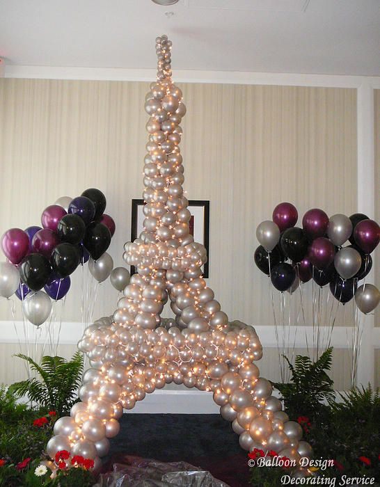 Eiffel Tower with balloons!? by Balloon Design  Paris theme party