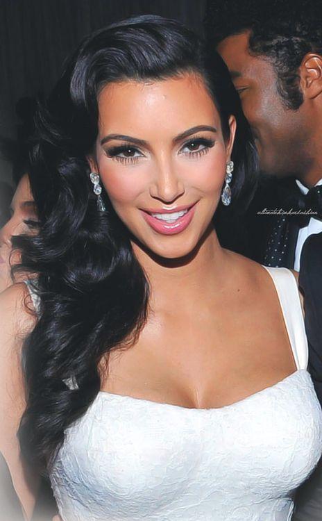 Kim k makeup & hair