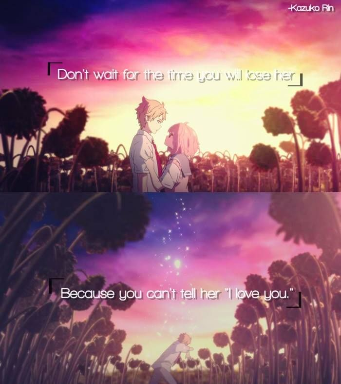 Anime: Kyoukai no Kanata | Anime_Quotes | Pinterest | Anime, Manga ...