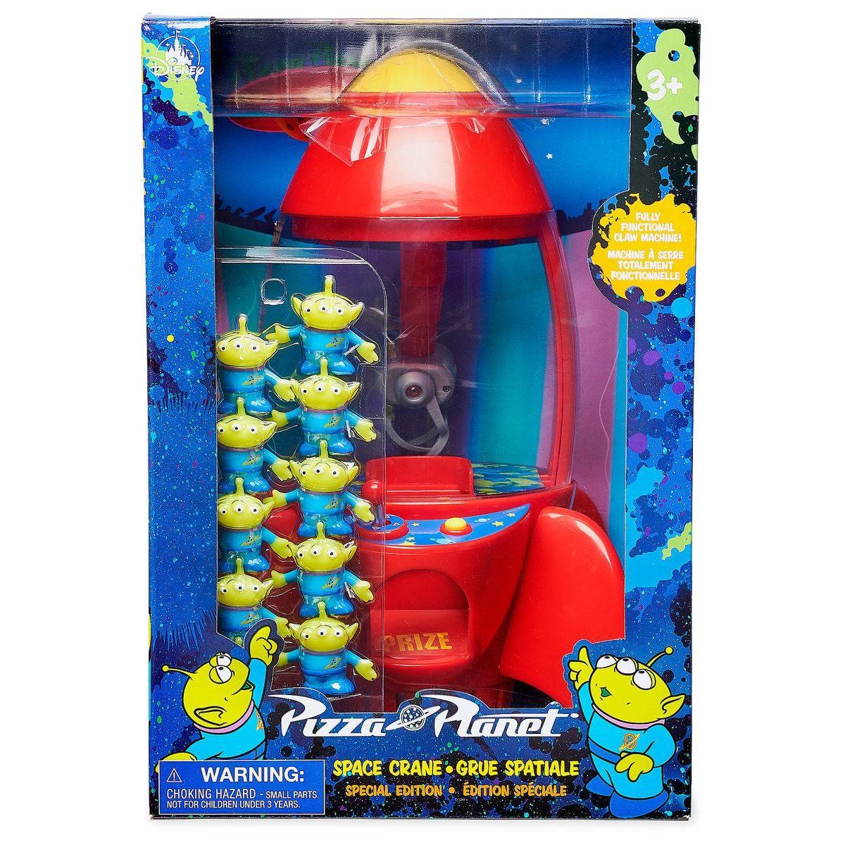 Disney Store Toy Story Alien Claw Rocket Pixar Pizza Planet Space Crane Special