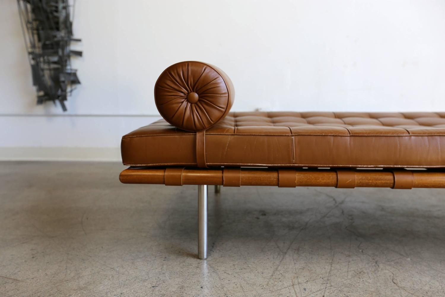 Rosewood And Leather Barcelona Daybed By Ludwig Mies Van Der Rohe