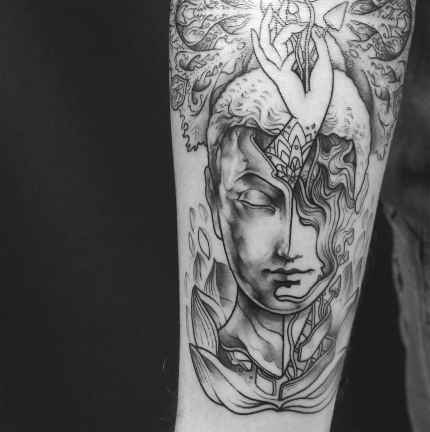 Tattoos By Nick Broslavskiy Make You Question Reality Tattoos Graphic Design Agency Graphic Design