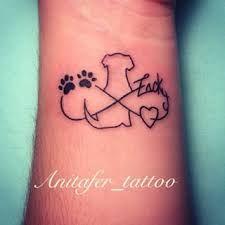 Resultado De Imagen Para Tatuaje Huellas De Perro Y Corazon