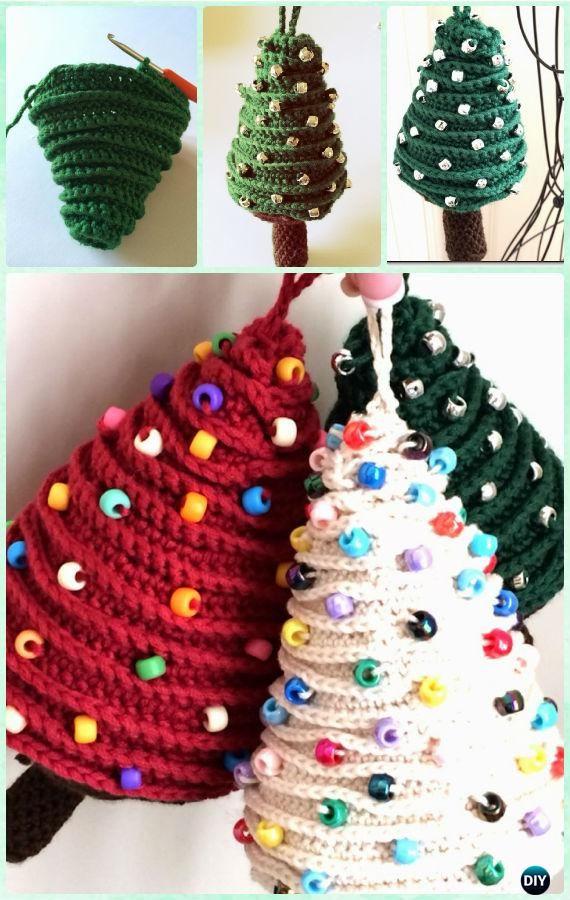 How To Diy Crochet Christmas Tree Ornament Koees Answer Christmas Crochet Patterns Crochet Tree Christmas Crochet