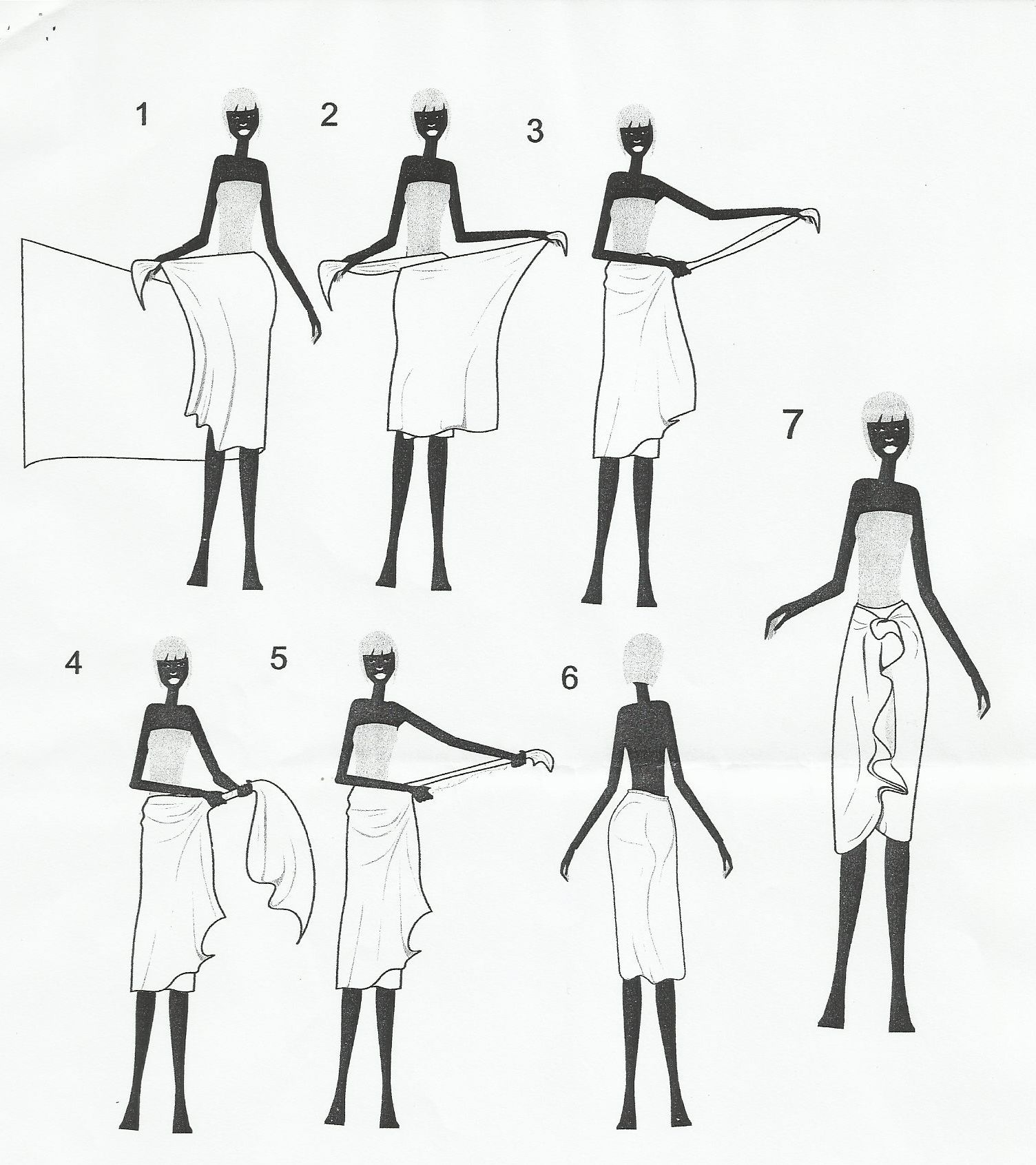 How to tie a pareo 41