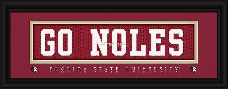 Florida State University-GO NOLES-Stitched Uniform Framed Print ...