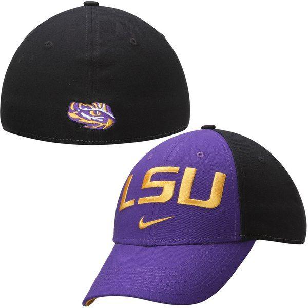 dffcb11865256 LSU Tigers Nike Canvas Arch Wordmark Swoosh Flex Hat - Purple  LSUTigers