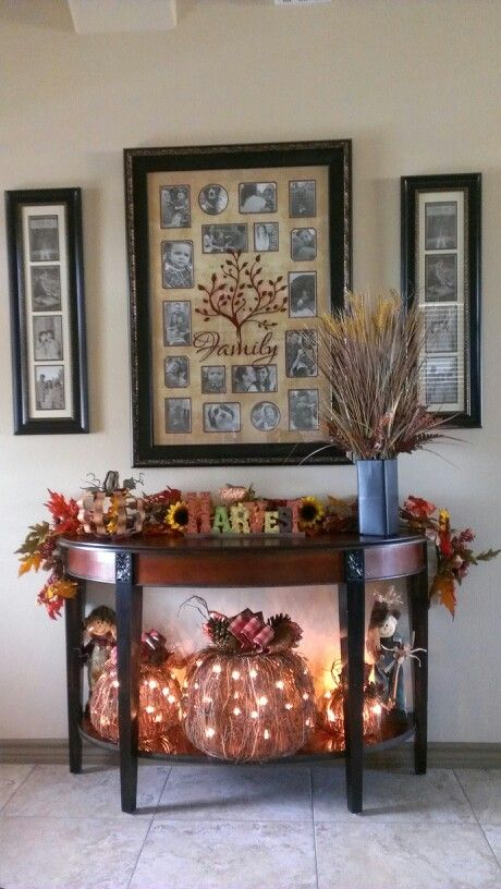 My Fall Decor A Tad Bit Early Part Hobby Lobby And Part Kirklands Fall Thanksgiving Decor