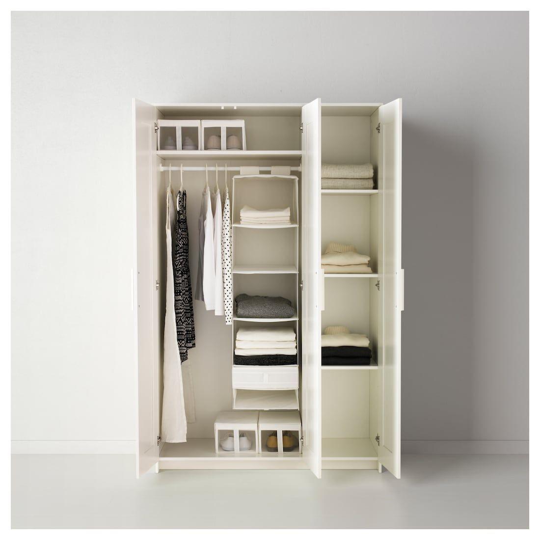 Brimnes Wardrobe With 3 Doors White 46x74 3 4 Ikea Brimnes