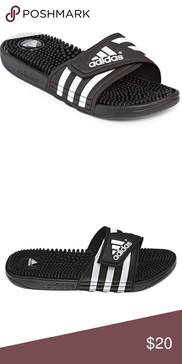 ADIDAS Slides I m not sure if they re kids size or adult but my feet are a  size 5.5 and they fit me. Could fit a size 5 in women s. adidas Shoes  Sandals 561102797b