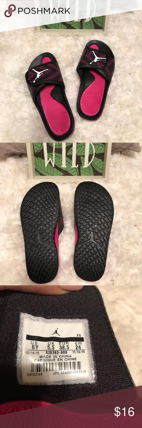 3ce47ff39f5 Jordan Slides-Brand New w/o Tag -Hot Pink & Black Jordan Slides ...