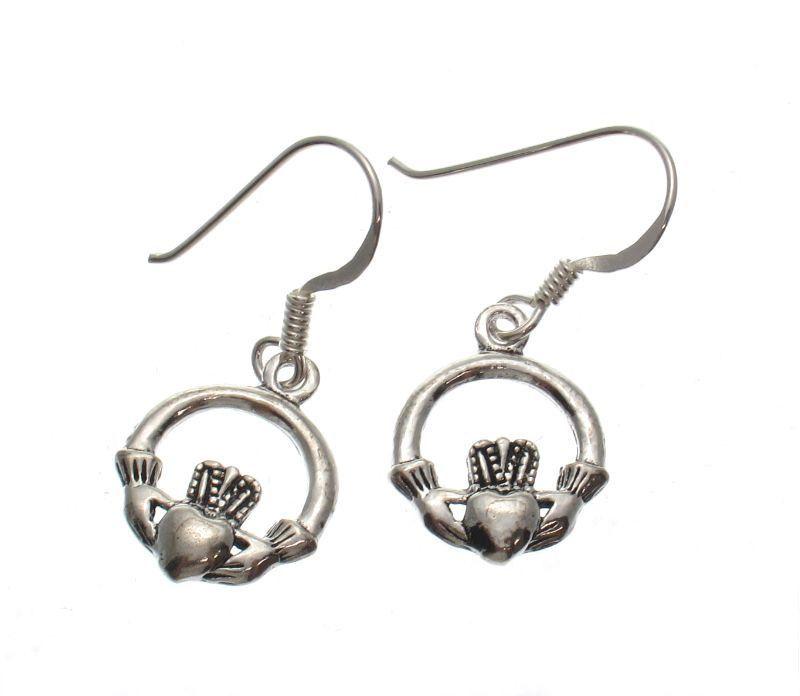 Small Claddagh Earrings